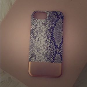 H&M Rose gold and Snake print IPhone Case, 6&7